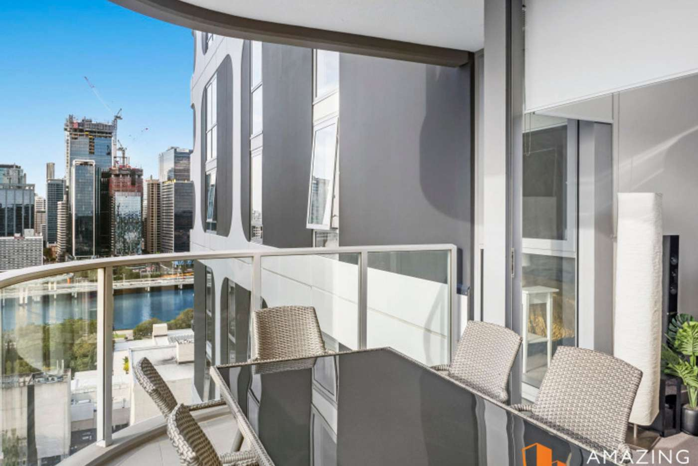 Main view of Homely apartment listing, 58 Hope Street, South Brisbane QLD 4101