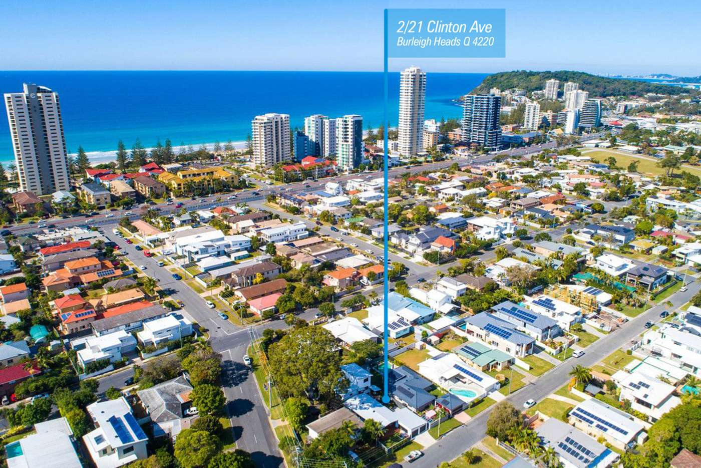 Main view of Homely semiDetached listing, 2/21 Clinton Avenue, Burleigh Waters QLD 4220