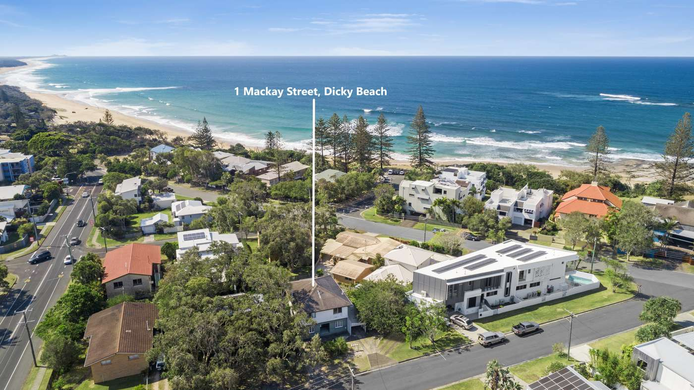 Main view of Homely house listing, 1 Mackay Street, Dicky Beach, QLD 4551