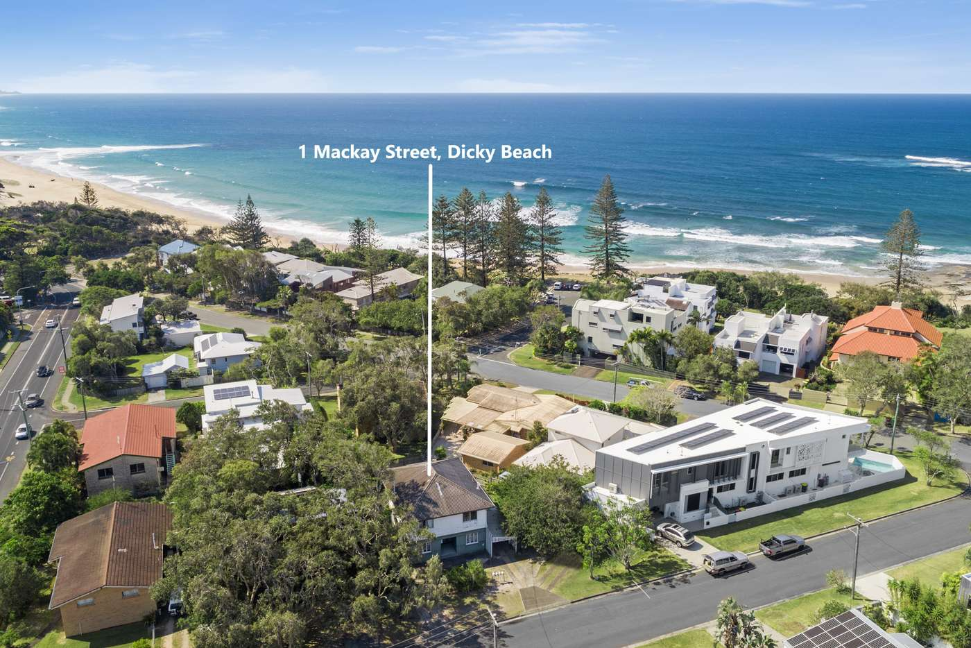 Main view of Homely house listing, 1 Mackay Street, Dicky Beach QLD 4551